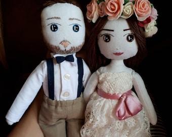 Bride and groom, Wedding, Doll, Portrait doll, handmadedoll, Buy a doll, Doll on order Gift, to the girl, wedding, bride, свадебный подарок