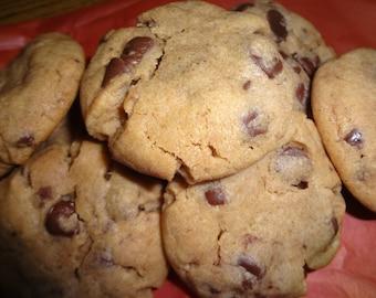 Homemade Super Soft Peanut Butter Chocolate Chip Cookies (2 Dozen)