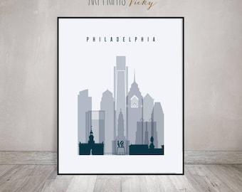 Philadelphia poster, print, Wall art, Philadelphia skyline, City poster, Typography art, Home Decor, Art Fine Digital Print, ArtPrintsVicky