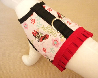 Minnie Mouse Dog Harness Vest