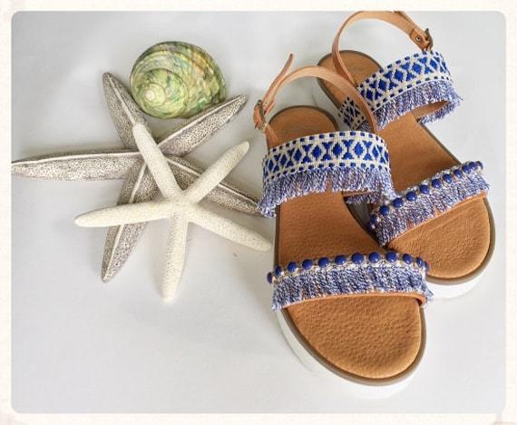 SHIPPING Flatforms Leather WORLDWIDE Strappy Sandals Boho Sandals FREE tIvwx0Uqpn