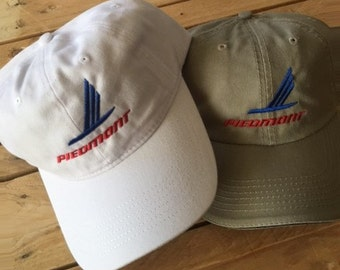 Vintage Piedmont Airline Logo Cap  Free Shipping in USA