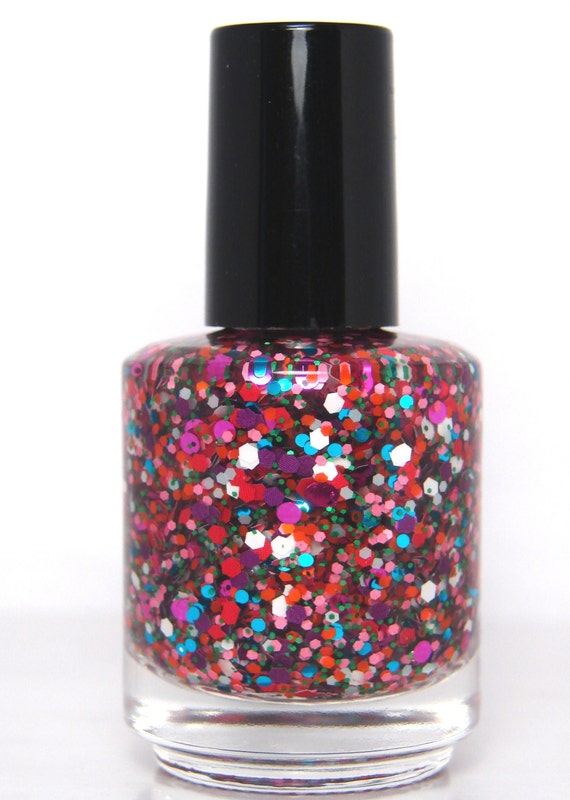 Madness is Catching - Custom Glitter Nail Polish Alice in Wonderland ...