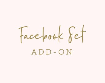 Facebook Set for Premade Logo, Social Media Header, Facebook Profile Image, Facebook Cover Photo