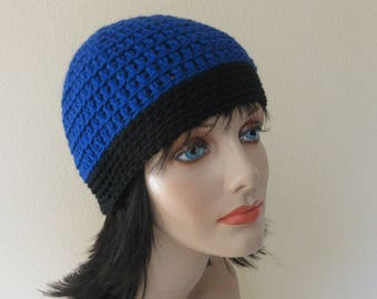 March For Our Lives Beanie, Gender Neutral Hat, Royal Blue Black Beanie, Keep Schools Safe