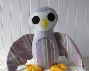 Grey Owl, Plush Owl, Toy Owl, Owl Doll