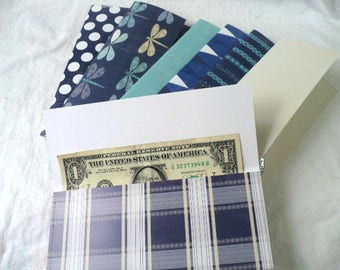 Wallet Envelopes, Envelopes, Nature Lover, Wallet Organizer, Cash System, Assorted Patterns, Hand Stitched, 3.25 x 7 Inches, Sets of 6