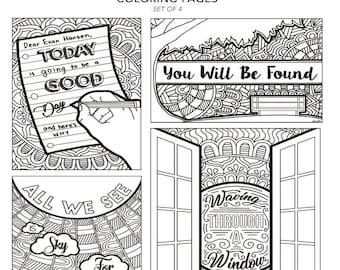 all the dear evan hansen you will be found broadway musical theater hand drawn note card coloring pages wall art theatre nerd