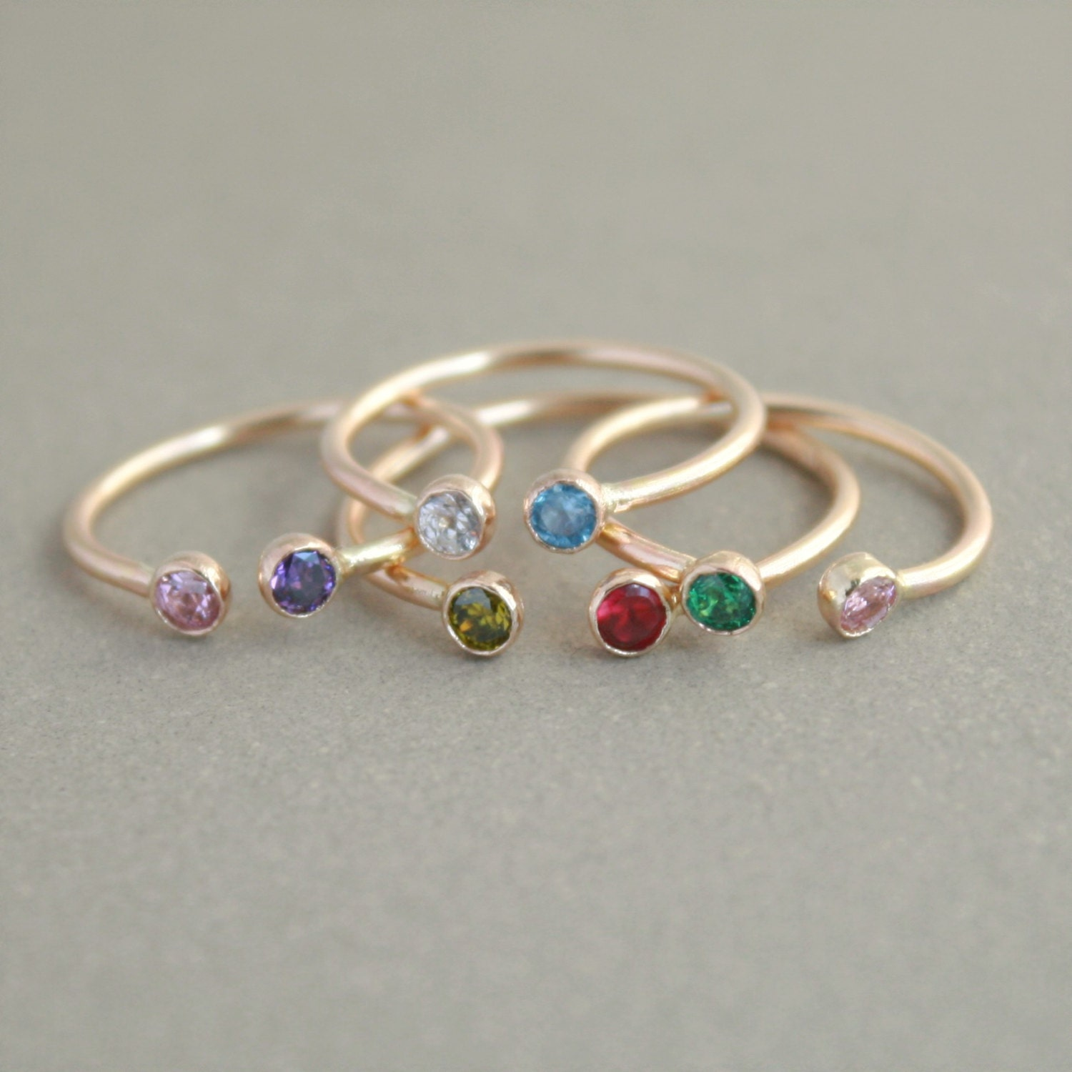 stella luna antique rings products estate and eternity birthstone band vintage stacking garnet
