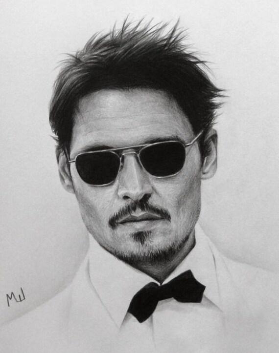 Johnny depp schauspieler portrait realistische - Dessin johnny depp ...