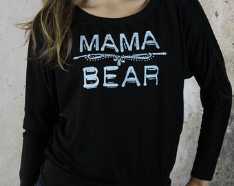 Mama Bear shirt, mom life, gift for her, gift for mom, mom shirt, slouchy shirt, flowy shirt, mothers day gift, plus size clothing