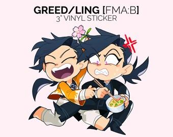 Greed/Ling Fullmetal Alchemist Sticker
