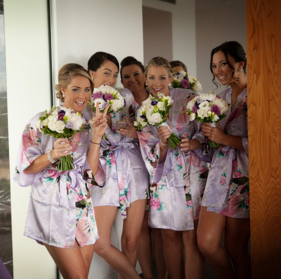 Cheap Gifts For Wedding Party: CD1 Satin Robes For Bridal Party Cheap Bridesmaid Gifts Under
