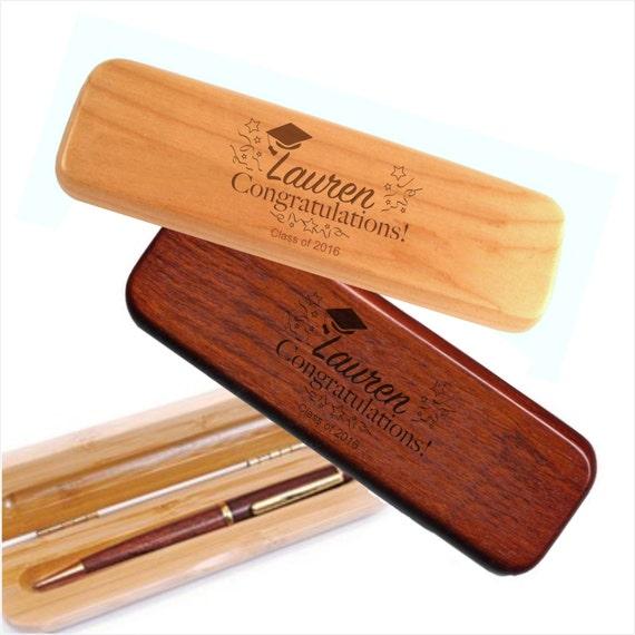 Personalized Graduation Wood Pen Set Engraved wood pen