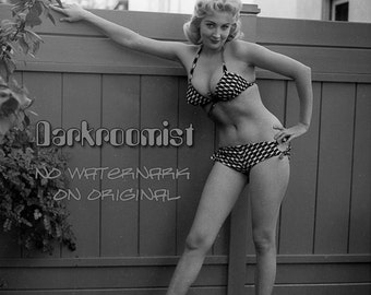 Vintage Bikini Pinup, 8x10  silver gelatin print
