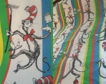 Cat in the Hat Bedspread Blanket 1970s Sears Dr. Seuss Mid Century Kitsch Double Queen Bed
