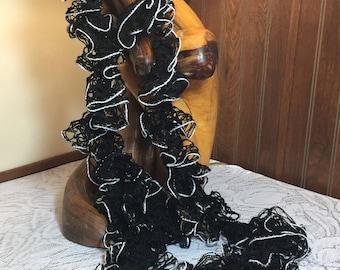 Crochet Ruffled Scarf