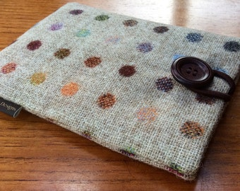 "Kindle paperwhite, kindle voyage, 6"" fire HD, Kobo, Nook glowlight plus cover case, British pure wool fabric, spots"
