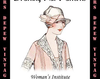 Vintage Woman's Institute Millinery Book 1920's Drafting Hat Patterns Ebook How To -INSTANT DOWNLOAD-