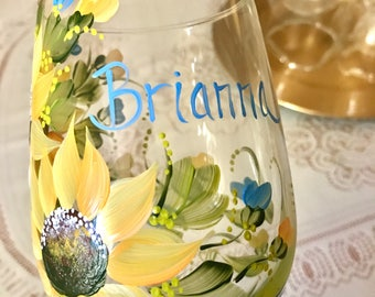 Free shipping custom order glass reserved for Briana