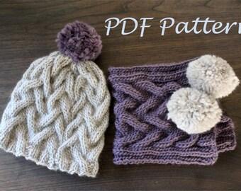 KNITTING PATTERN- The Winter Wonderland Set (child -adult sizes) PDF knitting pattern