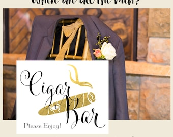 Cigar Bar Sign | DIY PRINTABLE | Wedding Cigar Bar | Instant Download