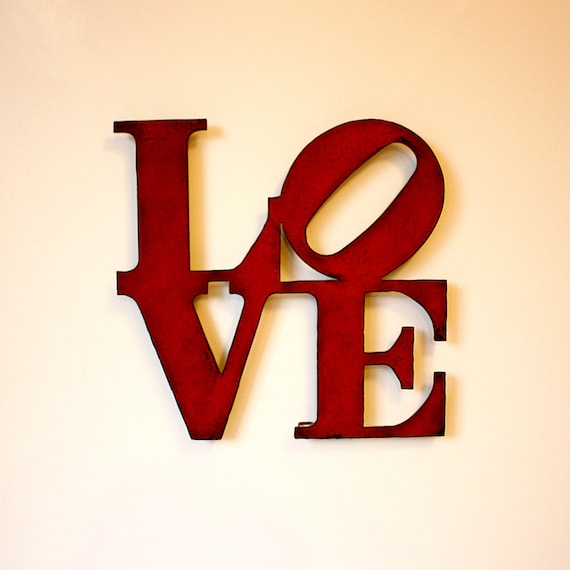 Love Wall Art Metal Sign 8 Tall Love Metal Wall