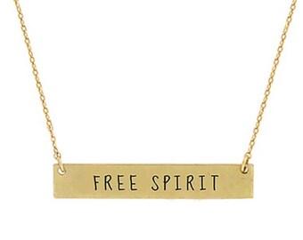 Free Spirit - Bar Necklace Gold