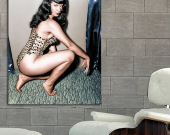 53 Poster Mural Bettie Page Pinup Model Print