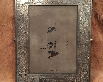 Antique James W. Tufts Silver Plated Mirror Frame