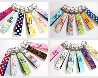 Teacher Gift Monogram Key Chain Personalized Key chain, Monogrammed Key Fob, Teacher Appreciation Gift, Teacher Personalized Gift ONE LETTER