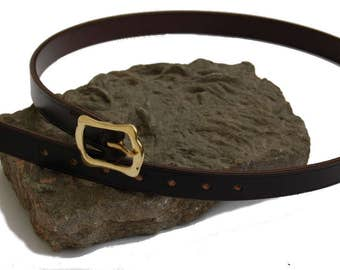 Ladies Belt Made From Top Quality English Bridle Leather