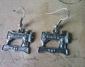 Sewing machines earrings ~ silver ~