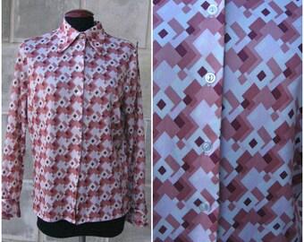 1970s shirt/Mod/small