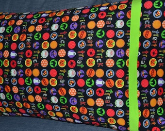 Trick or Treat Buttons Pillowcase