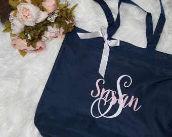 bridal totes, monogrammed tote, bride tote, bridesmaid tote, monogrammed bag, bridesmaid gift,