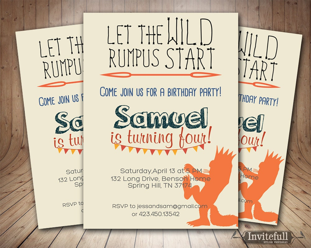 Creative Where the wild things are invitation Girl or Boy