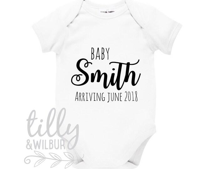 Pregnancy Announcement Baby Bodysuit