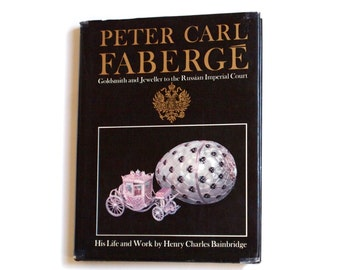 Faberge Book Hardcover Russian Jeweller Goldsmith Large Coffee Table Book