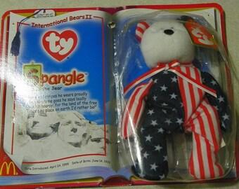 VINTAGE - TY - Spangle The Bear - teenie Beanie Babies