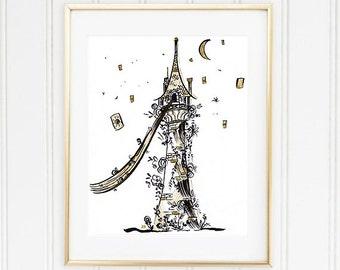 Rapunzel's Tower Fine Art Print