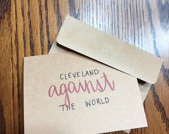Cleveland Against the World: Greeting Card