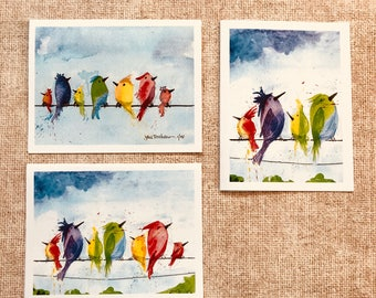 Birds On A Wire - Pack of 6 Cards