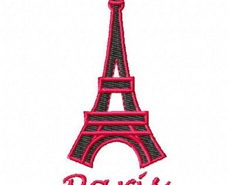 Paris Machine Embroidery Design