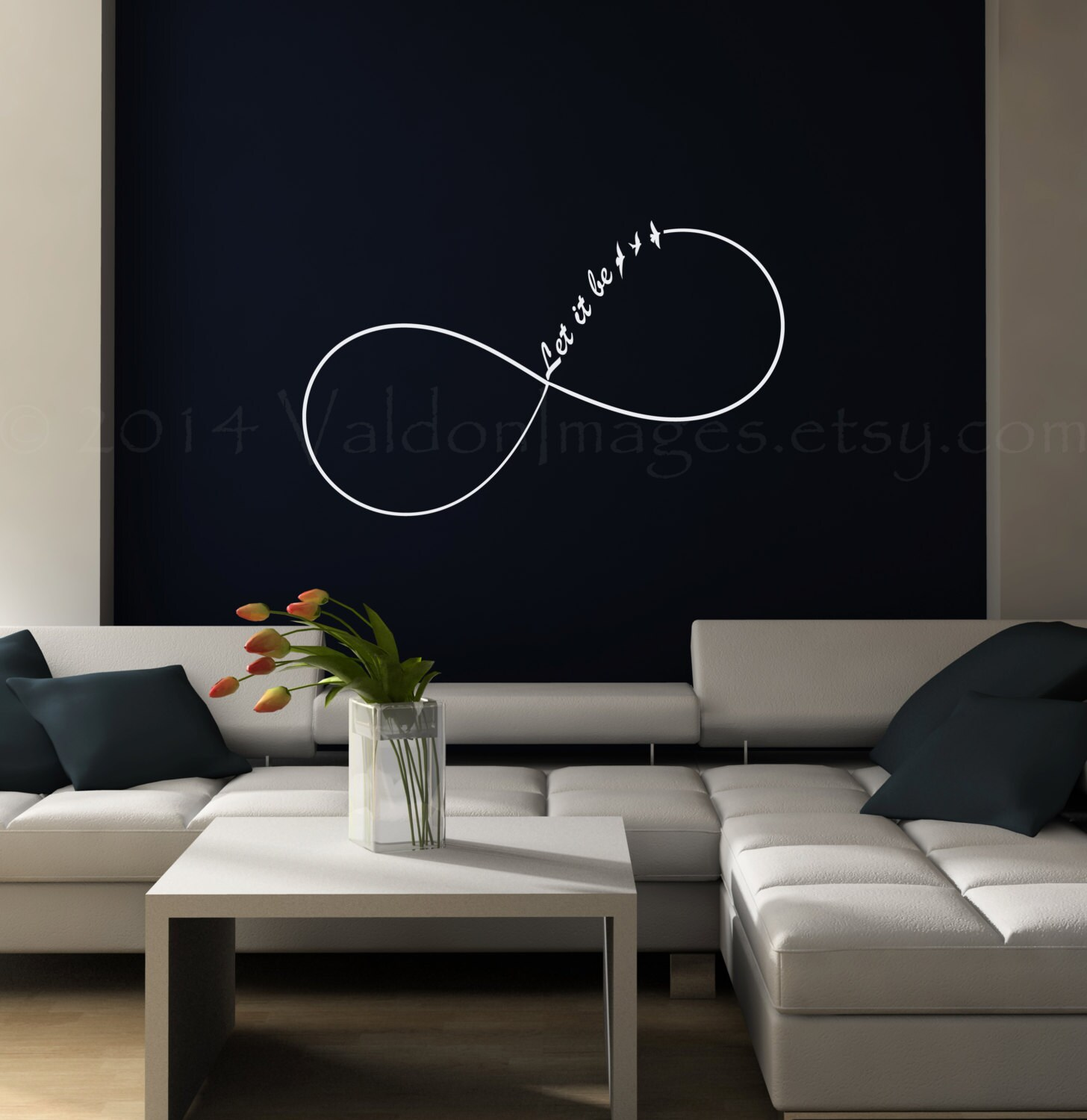 Infinity Let It Be Wall Decal Dorm Room Decor Bedroom