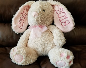 Large Personalized Easter Bunnies, plush Easter Bunny, year bunny, Easter gift, kids Easter gift, baby first Easter, shower gift Sew4MyLoves