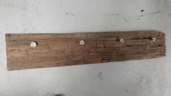 Barn board wall hooks