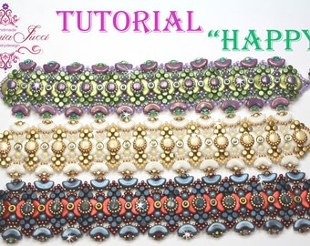 Tutorial DIY Schema inglese e italiano - HAPPY - bracciale