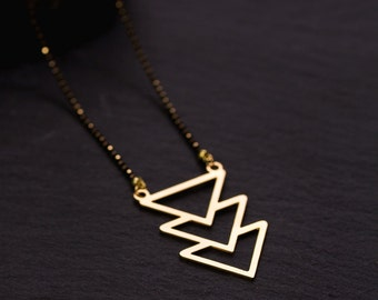 3 Gold Triangles necklace