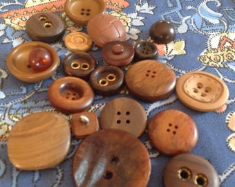 Vintage haberdashery. Assortment of vintage buttons